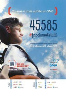 Atrofia muscolare spinale: attivo numero solidale45585per la raccolta fondi