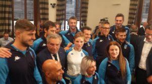 La squadra presentata a Montecitorio ATLETI AZZURRI SCHERMA PARALIMPICA