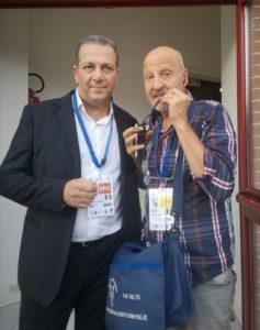 Campionati Europei Assoluti di Scherma Paralimpica 2018 a Terni, Luigi Stentella con il Presidente del Circolo Scherma Terni Alberto Tiberi