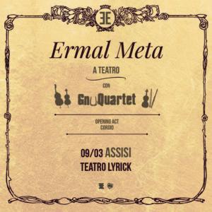 Al teatro Lyrick di Assisi arriva una tappa  del nuovo tour di Ermal Meta