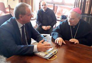 Provincia, visita del vescovo della Diocesi di Terni, Narni e Amelia Mons.Piemontese