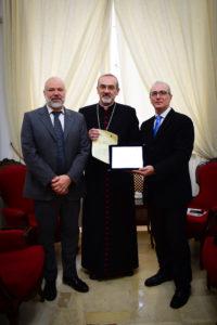 """""""Thomas More International Award 2018"""" premia l'Amministratore Apostolico del Patriarcato latino di Gerusalemme, Arcivescovo Mons. Pierbattista Pizzaballa"""
