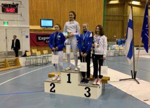 Eleonora Sbarzella sale sul podio al circuito europeo Under 14 di Helsinki