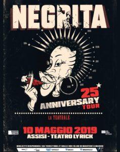 """Al Teatro Lyrick di Assisi la prima tappa del """"25th Anniversary Tour"""" dei Negrita"""