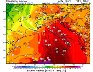Pronti per un fine settimana africano? ulteriore aumento termico nel weekend